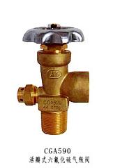CGA590活瓣式六氟化硫瓶阀